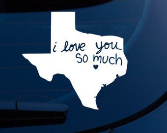 I Love You So Much Austin, Tx - FREE US SHIPPING