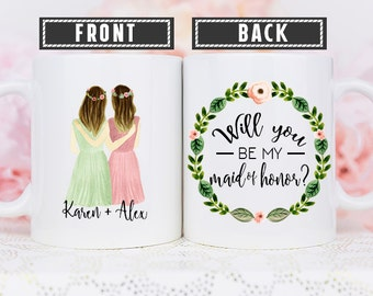 Maid of Honor Proposal Mug, Will you Be My Maid of Honor Mug, Proposal Mug for Maid of Honor, Proposal Mug, Matron of honor Proposal Mug
