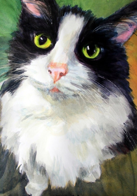 Custom pet portraits - pet paintings - cats - dogs - animal portraits - watercolor pet portraits - watercolor pet paintings