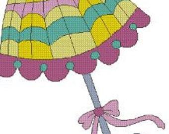 umbrellas Cross stitch designs