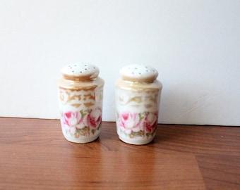 Antique Rose Salt & Pepper Shakers West Germany