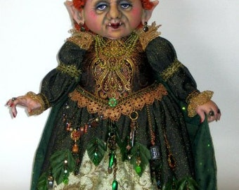 AB514E - Troll Queen PDF, Cloth Doll Pattern