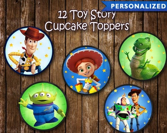 Toy Story Cupcake Toppers - Toy Story Birthday Decorations - Toy Story Party (Printable Digital File)