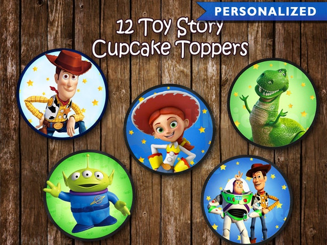 Toy Story Cupcake Toppers Toy Story Birthday Decorations