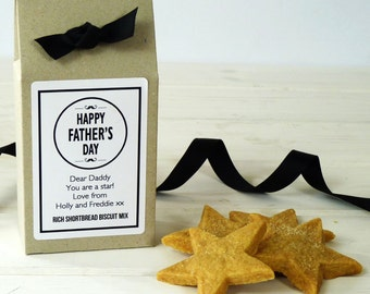 Personalised Father's Day Shortbread Biscuit Mix