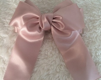 Lovely High Quality Hair Bow Light Pink Ribbon NO. 004