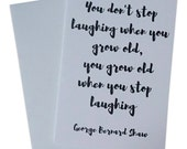 Birthday Card, Funny Birthday Card, Birthday Card for Writers, Birthday Card for Book Lover with George Bernard Shaw Quote