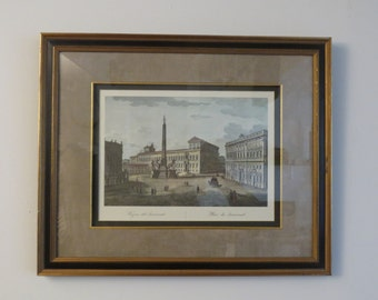 Lithograph, set of 2 beautiful lithograpfs of Roman architecture