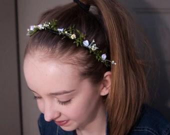 Fairy Flower Headband, Nature Headband, Elastic Headband, Baby Headband, Women Headband, Teenage Headband, Wedding Headband,Hair Accessories