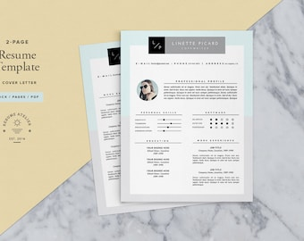 3-page Resume Template / CV Template + Cover Letter for MS Word & Pages / Teacher Resume / Instant Download
