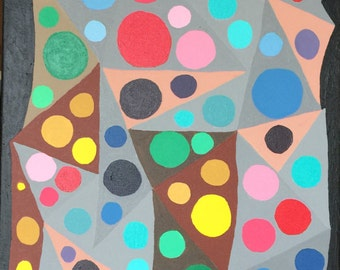 Circles, Triangles, Acrylic, abstract art