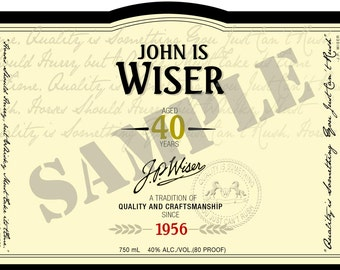 PERSONALIZED DIGITAL FILE of Wiser's label - Birthday Gift