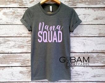 Boyfriend tee / NANA Squad Shirt / NANA SHIRT /Grandma tee/ You're a grandma / Grandma gift / future grandma / we're Pregnant
