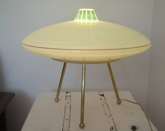 tripod table UFO Lamp desing 1950s vintage space age
