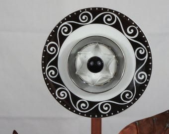 Black and White Plate Flower