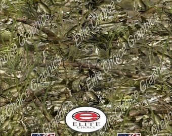"Bass Camo 15""x52"" or 24""x52"" Truck/Pattern Print Tree Real Camouflage Sticker Roll or Sheet"