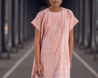 """Dress """"ROSALIE"""" 100% cotton khadi, for her, woman's clothing"""