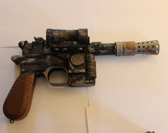 Empire strikes back and Return of the Jedi Han Solo DL-44 replica,1-1 Scale,Weathered to look realistic