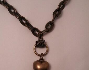Brass Heart OOAK Necklace