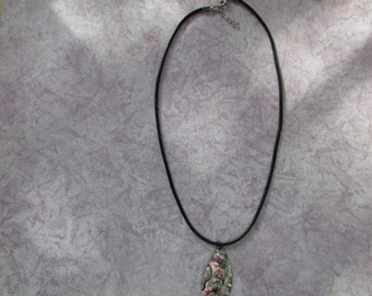 Abalone Tear Drop Necklace