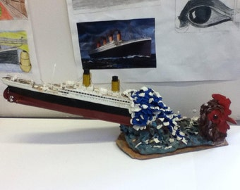 Titanic and chicken sculpture
