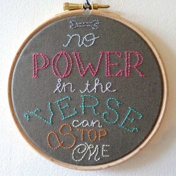 No Power in the Verse Hoop Art | Firefly Gift Guide