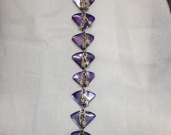 PRICE REDUCED!!!  Purple & Silver Bracelet