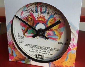 Queen - A Night At The Opera.  Clock made from vinyl record