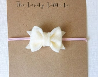 "SALE - The ""Everly"" Felt Bow Headband - Choose your color!"