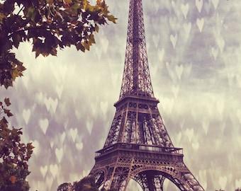 Raining Hearts - Paris - Fine Art Photograph - eiffel tower photo - paris wall art - eiffel tower photography - Paris Love wall Print