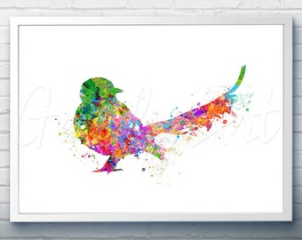 Bird Watercolor Art Print  - Watercolor Painting -  Bird Watercolor Art Painting - Bird Poster - Home Decor - House Warming Gift [2]