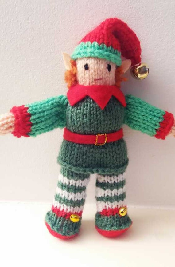 Cute CHRISTMAS ELF KNITTING pattern Santas little