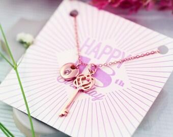 18th Birthday Gift | 18th Birthday Jewellery | Present for 18th Birthday | 18th Birthday Card | FREE UK Shipping | Key Necklace |