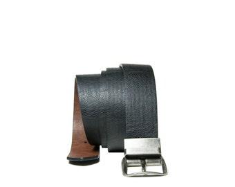 Mens Leather Belt, Reversible mens belt, Leather belt with solid metal buckle. Black belt on one side, Brown Belt- Carved Accessories