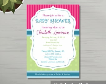 Printable Baby Boy Shower Invitation Template for Word Boy