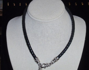 Judith Rupka Leather and Sterling Choker