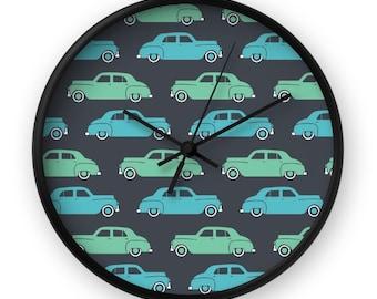 Classic Car Clock - Retro Wall Clock - Deluxe Clock - Vintage Clock - Mid Century Clock - Mid Century Wall Clock - Modern Clock - Cute Clock