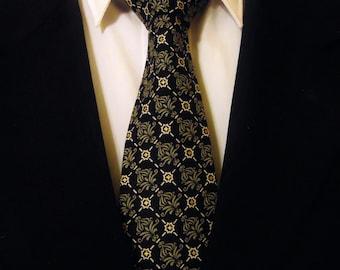 Classic Necktie, Classic Tie,  Mens Necktie, Mens Tie, Black Necktie, Black Tie, Grey Necktie, Grey Tie, Cotton Necktie, Dad, Father, Gift