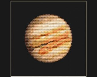Jupiter Cross Stitch Pattern PDF - Planet Solar System