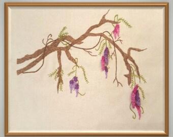 Wisteria Stumpwork & Embroidery Pattern
