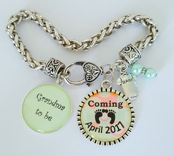 Grandma to Be Bracelet / Grandma Coming Soon Bracelet / Grandma Bracelet / Grandma Coming Soon Gift / Pregnancy Announcement Bracelet