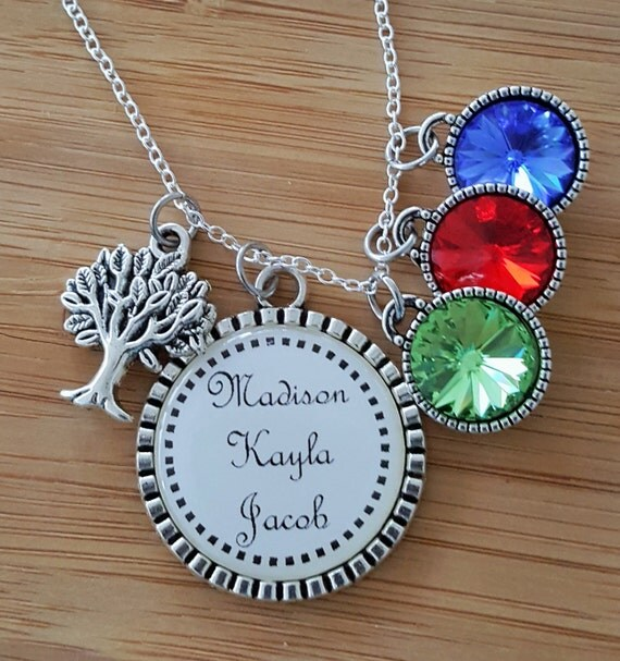 Personalized Birthstone Necklace Birthstone Necklace for Mom Birthstone Necklace for Grandma Mom Necklace Grandma Necklace Mom Gifts