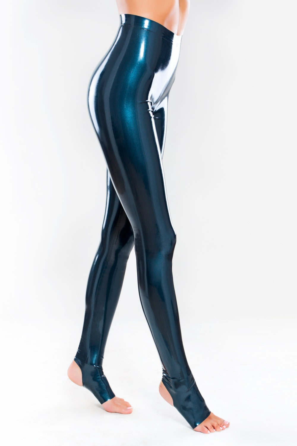 Latex Leggings With Stirrups
