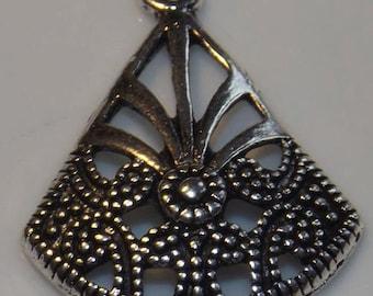 Pendant nickel metal antique 25x20mm, 1pc