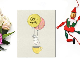 Happy Easter Bunny Nursery, Bright Sweet, Printable Art, colorful, Digital file, bright nursery art, kid printable, children art 8X10