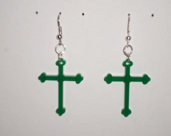 Cross Earrings - Acrylic (PN 10009-ACR)