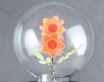 DarkSteve - Sunflower - Designer Light Bulb - Edison Style G80 E26 or E27 Screw Filament Decorative Light Bulbs  #1 Unique Gift