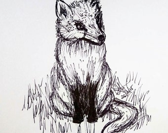 Cute Ink Fox