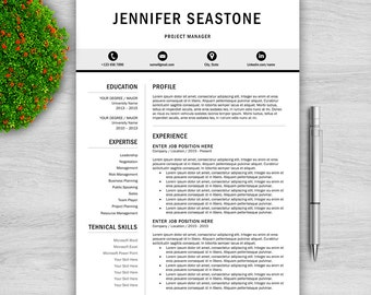 professional resume template for word 1 and 2 page resume template cover letter - 2 Page Resume Template
