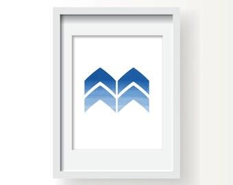 Chevron, Blue Chevron, Blue Prints, Chevron Prints, Chevron Wall Art, Chevron Artwork, Chevron Wall Decor, Chevron Blue, Chevron Geometric